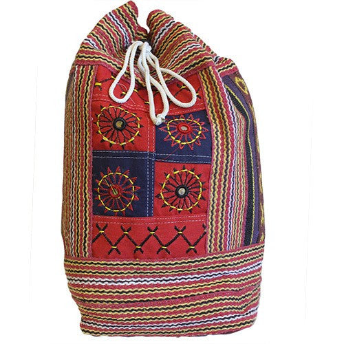 Nepal Duffle ethnic Bag - Décor Panel