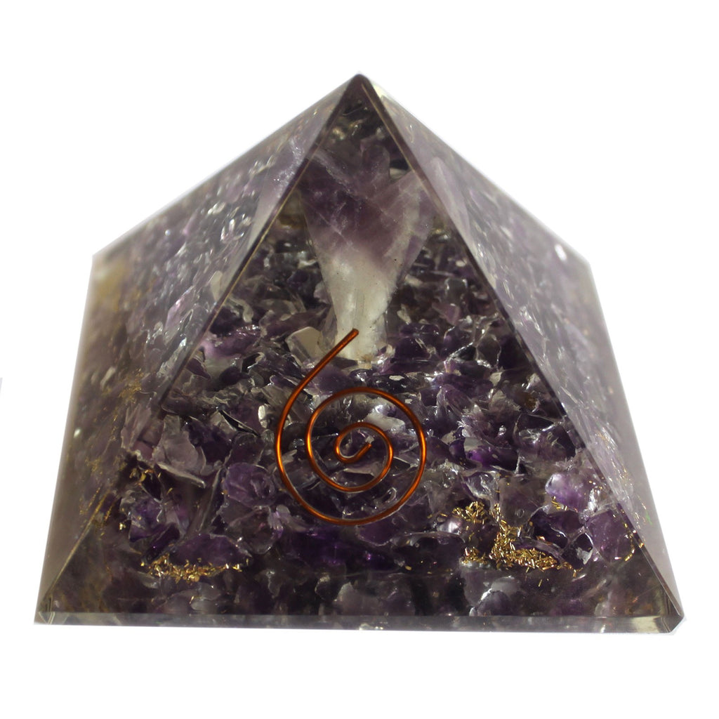 Large Orgonite Pyramid 70mm - Angel