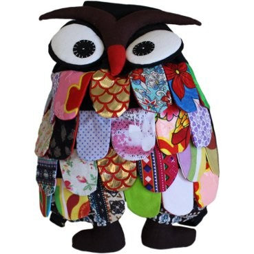 Handmade Recycled Owl Back Pack