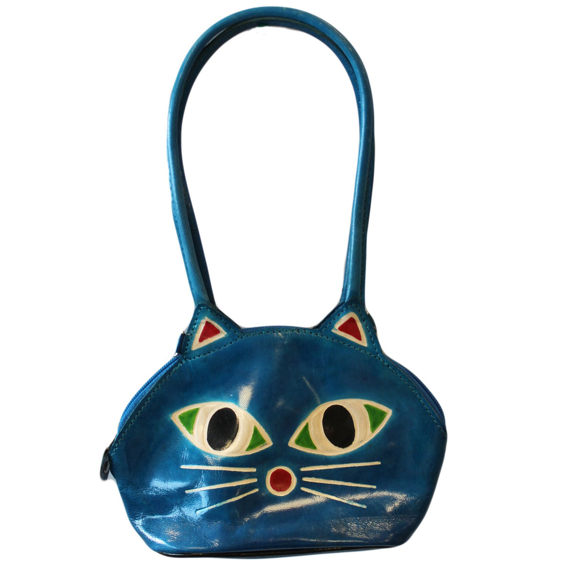 Bags, Black, Brown, Burgundy, Gift, Goatskin, Green, India, Indian, Leather, Leather Bags, Pink, Pussy Cat Bags, Red, Turquoise, Unusual Bags