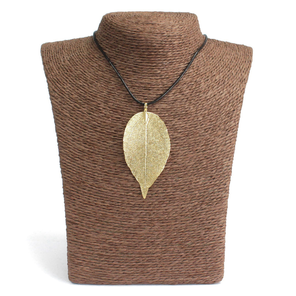 Necklace - Bravery Leaf - Gold
