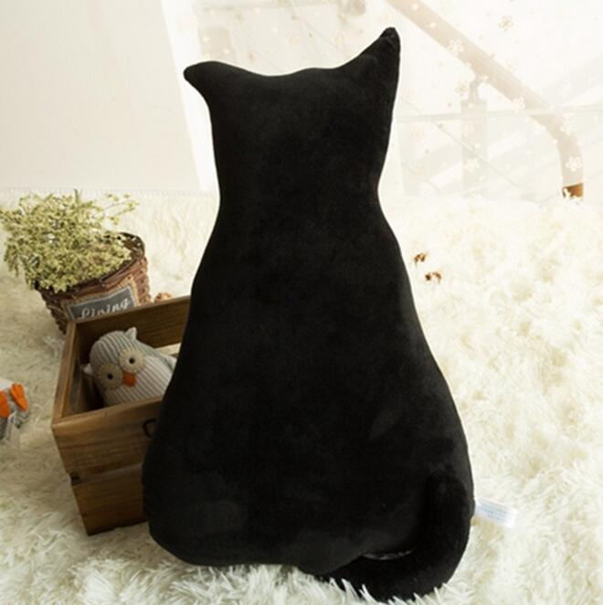 45cm Super cute Soft Plush Back Shadow Cat Sofa Pillow, Cushion