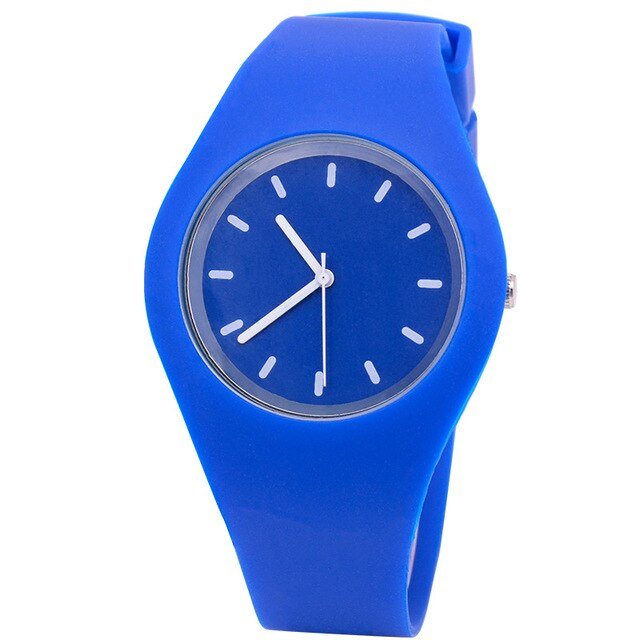 Ladies Candy-Coloured Sports Jelly Silicone Strap Watches