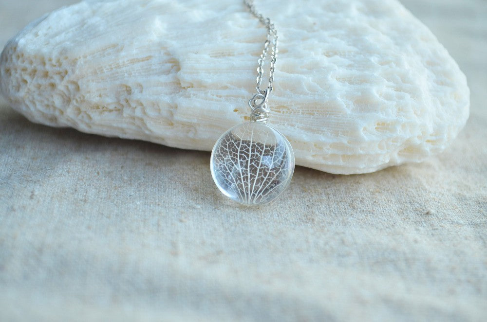 Kabbalah Tree Of Life Leaves Vein Real Flowers 925 Sterling Silver Chain Choker Necklace