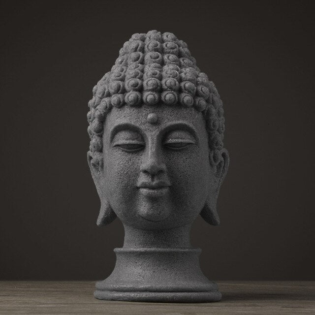 Decorative Large Buddha Head Statue