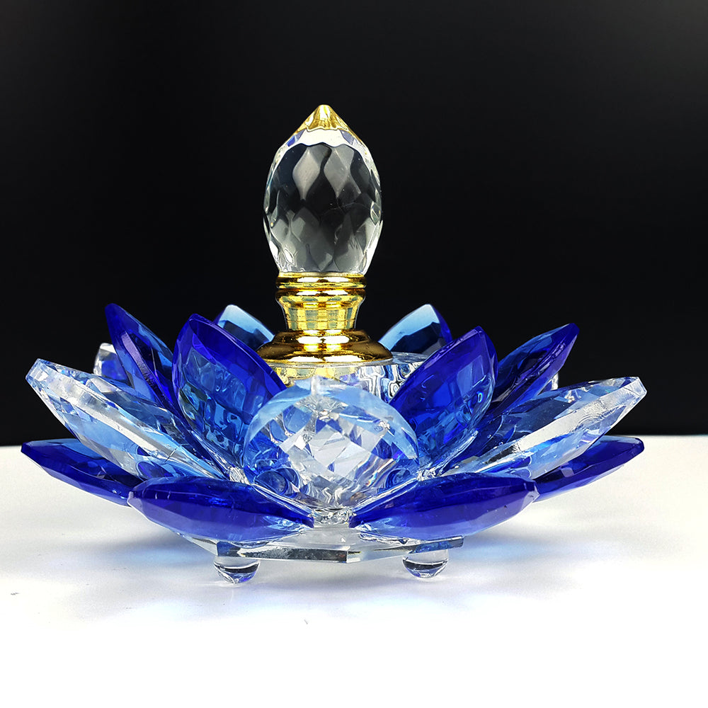Crystal Lotus Flower Refill Perfume Bottle Look4ward Store