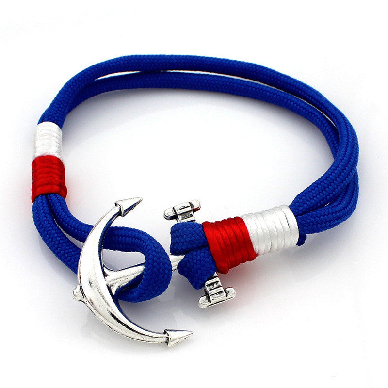Fashion Anchor Rope Steel Bracelet / Anchor Rope Navy Bangle