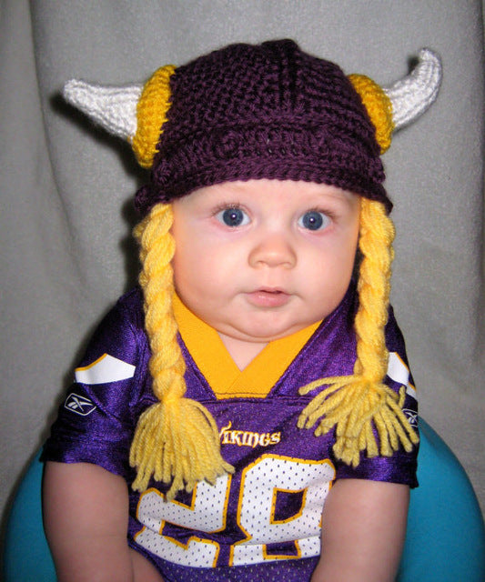 Crochet Viking hat 5bec0f78634