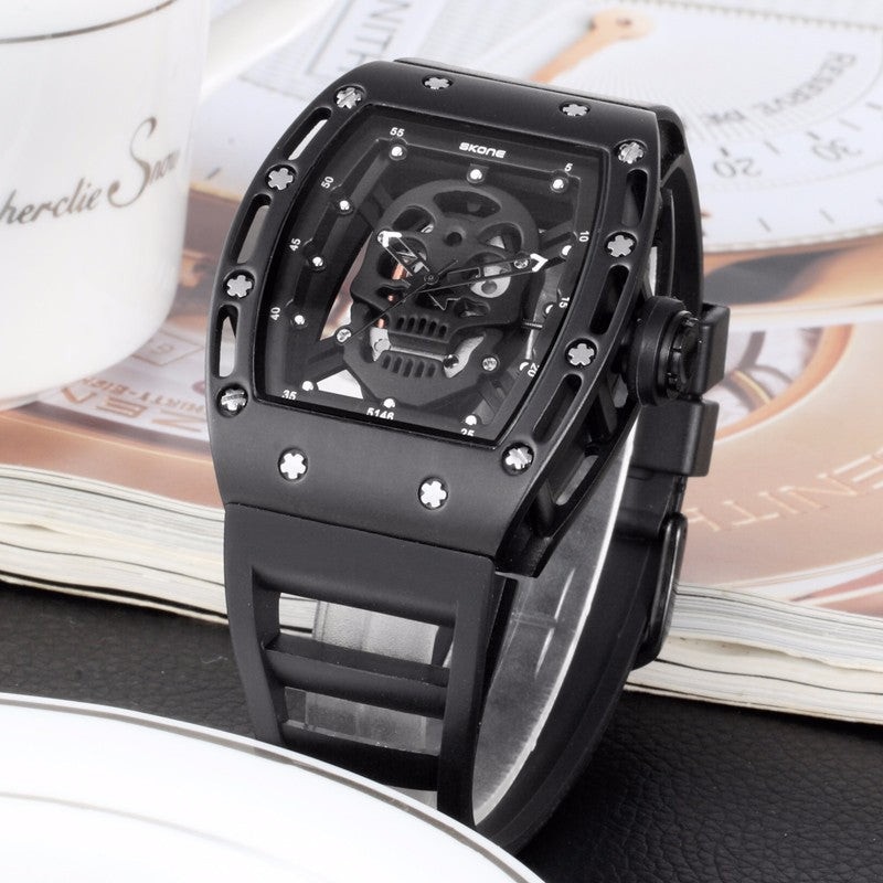 Hollow Silicone Watch Unique Design Skull Watch