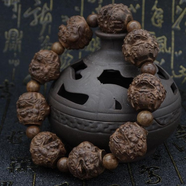 Multiple Choice Tibetan Buddhist Ebony Prayer Beads Mala Buddha Bracelet Rosary Wooden Bangle