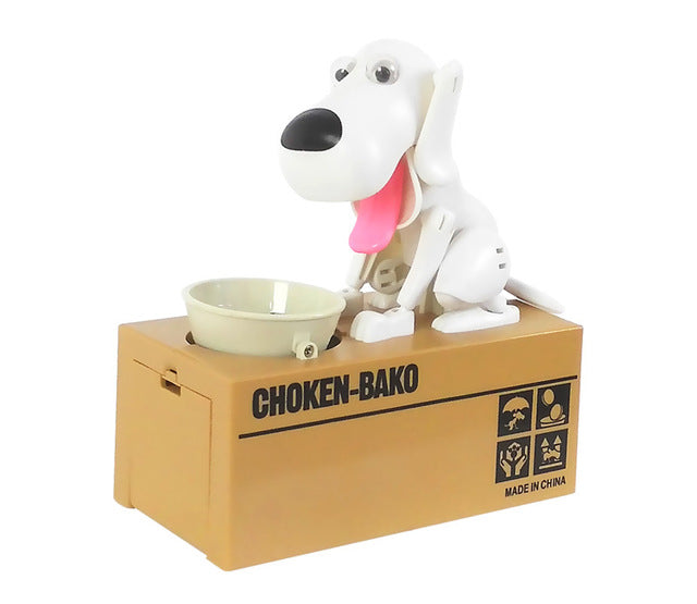 Dog Puppy Hungry Bank Coin/ Money Boxes
