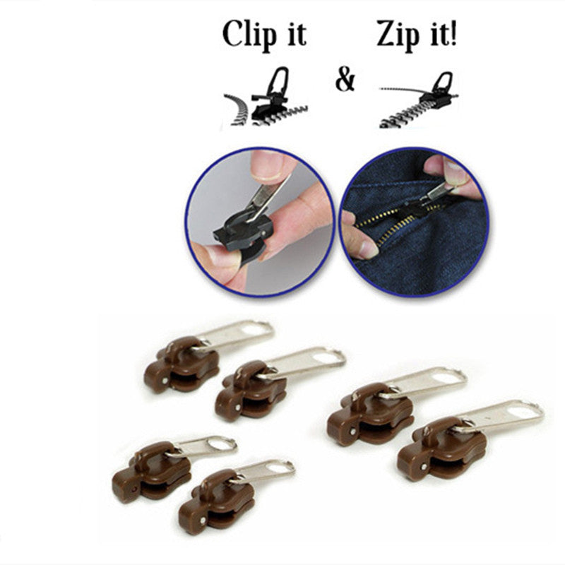 6 Pcs/Set  Multifunction Replacement Zip Slider Teeth Rescue