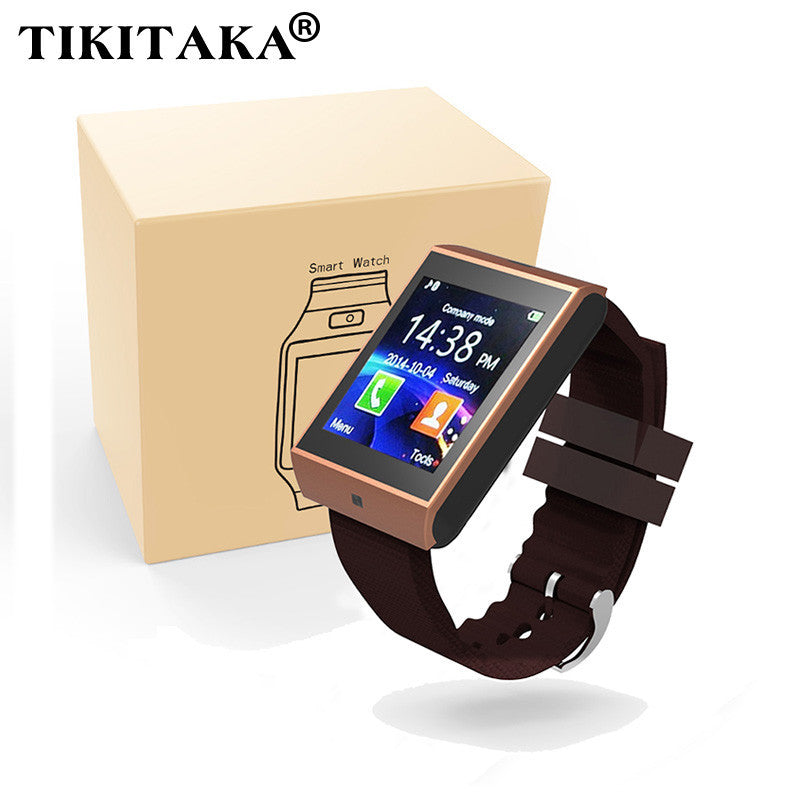 Bluetooth Smartwatch/Sync Notifier Support SMI TF for iphone Android Samsung S5/S6/Note2/3 Smartphones