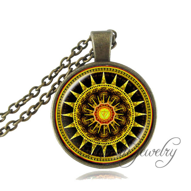 Dharma wheel pendant necklace dharma chakra sacred geometry handmade dharma wheel pendant necklace dharma chakra sacred geometry necklace aloadofball Gallery