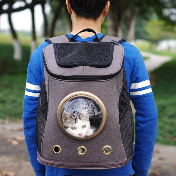 Space Capsule Shaped Pet Carrier Breathable Pet Backpack/ Pet Dog Travel Bag Portable Bag