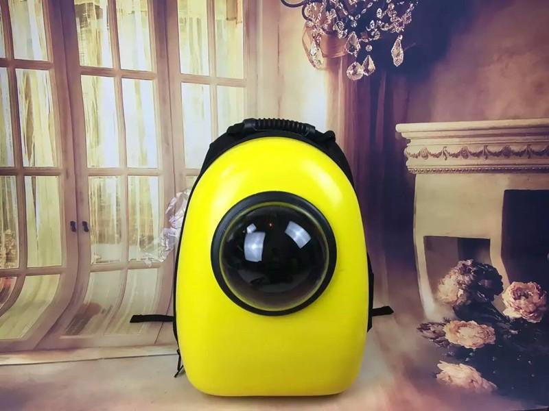 Space Capsule Shaped Pet Carrier  Breathable Pet Backpack PC/Cat-Dog Travel Bag Portable Bag
