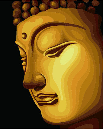 Golden Buddha Canvas Oil Hand Painting Home Decor Wall Art / Modern Art Painting