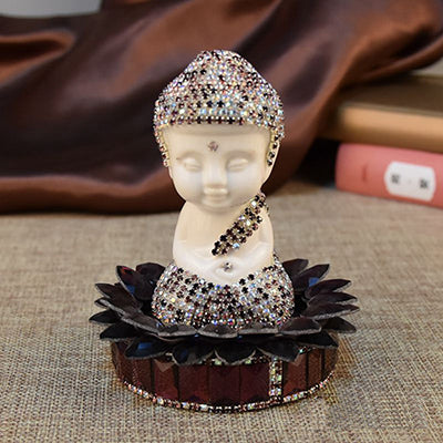 Ceramic Buddha Figurine/ 4 Colour Buddha Decor/Feng Shui