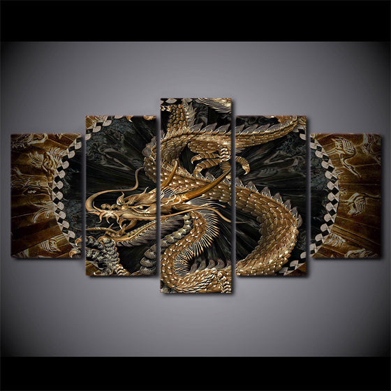 5 Piece Dragon Canvas Art / Wall Art