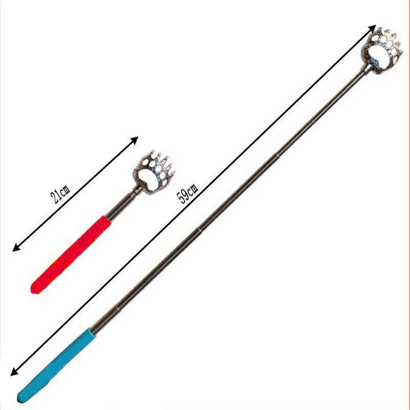 1 pcs Cute Bear Claw Stainless Back Claw Back Scratcher- Extendable