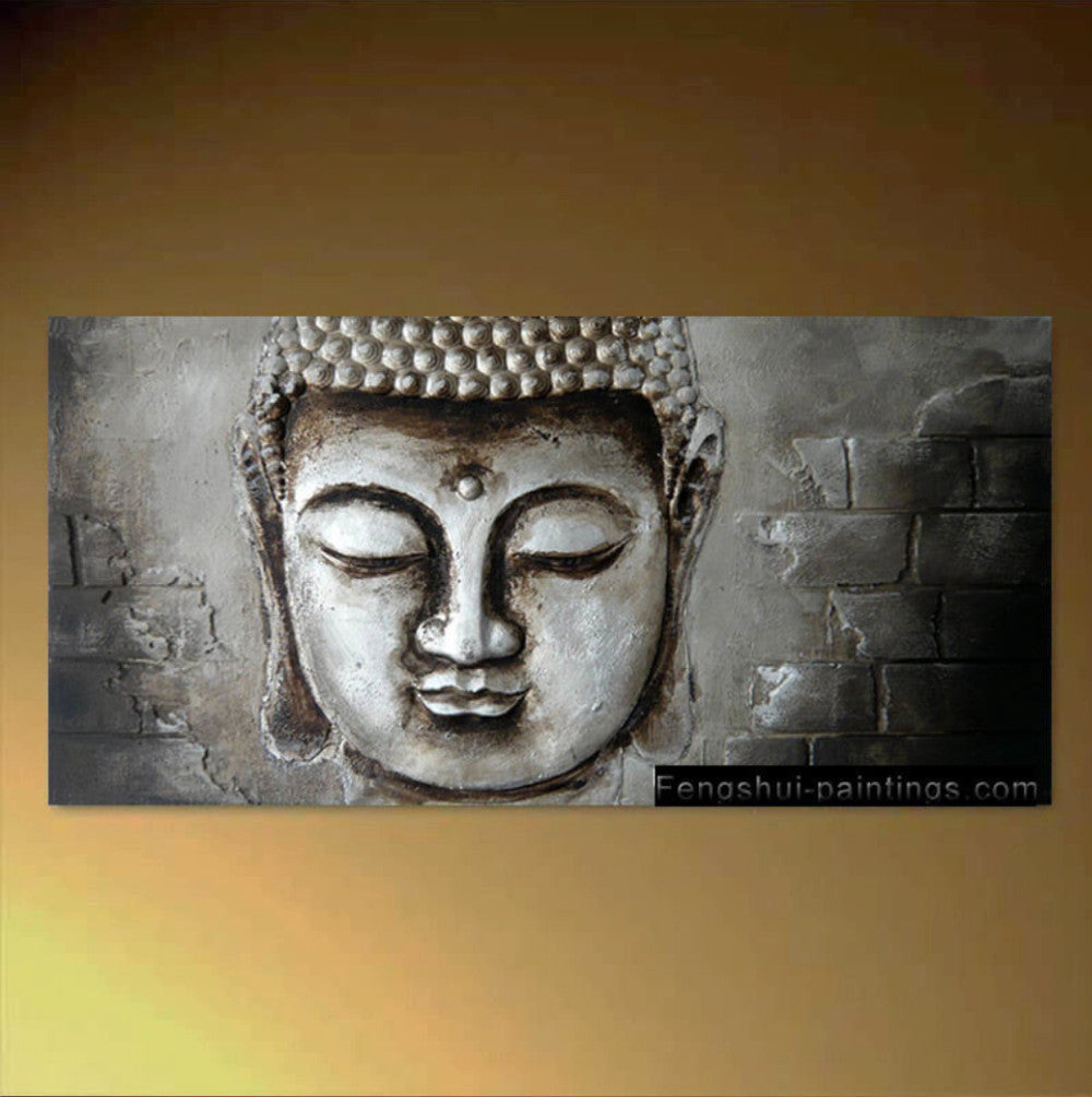 Zen Buddha Canvas Wall Art Modern Contemporary Abstract Painting Hand  Painted