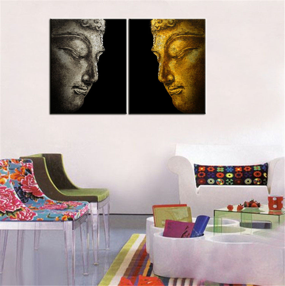 Buddha Profile Oil Painting Art Canvas/Wall Art Modern Living Room ...