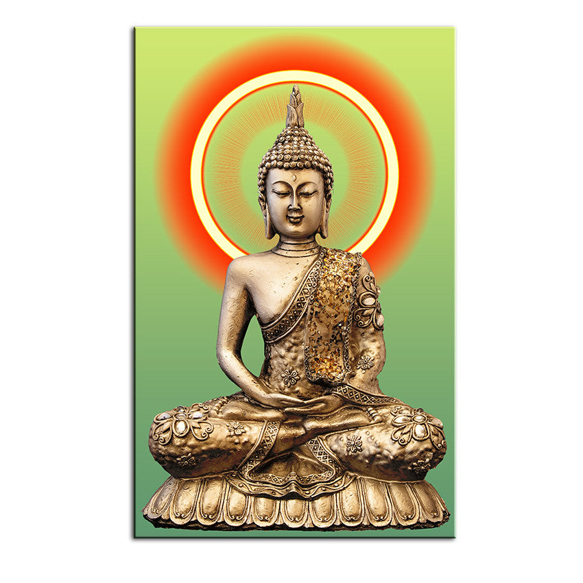 Golden Buddha Painting Living Room Wall Decor/Painting On Canvas Wall Art-No frame