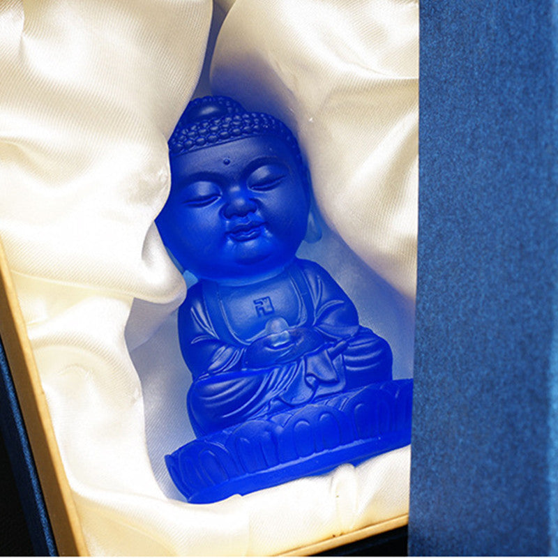 Blue Feng Shui Buddha Figurine/ Home Decor
