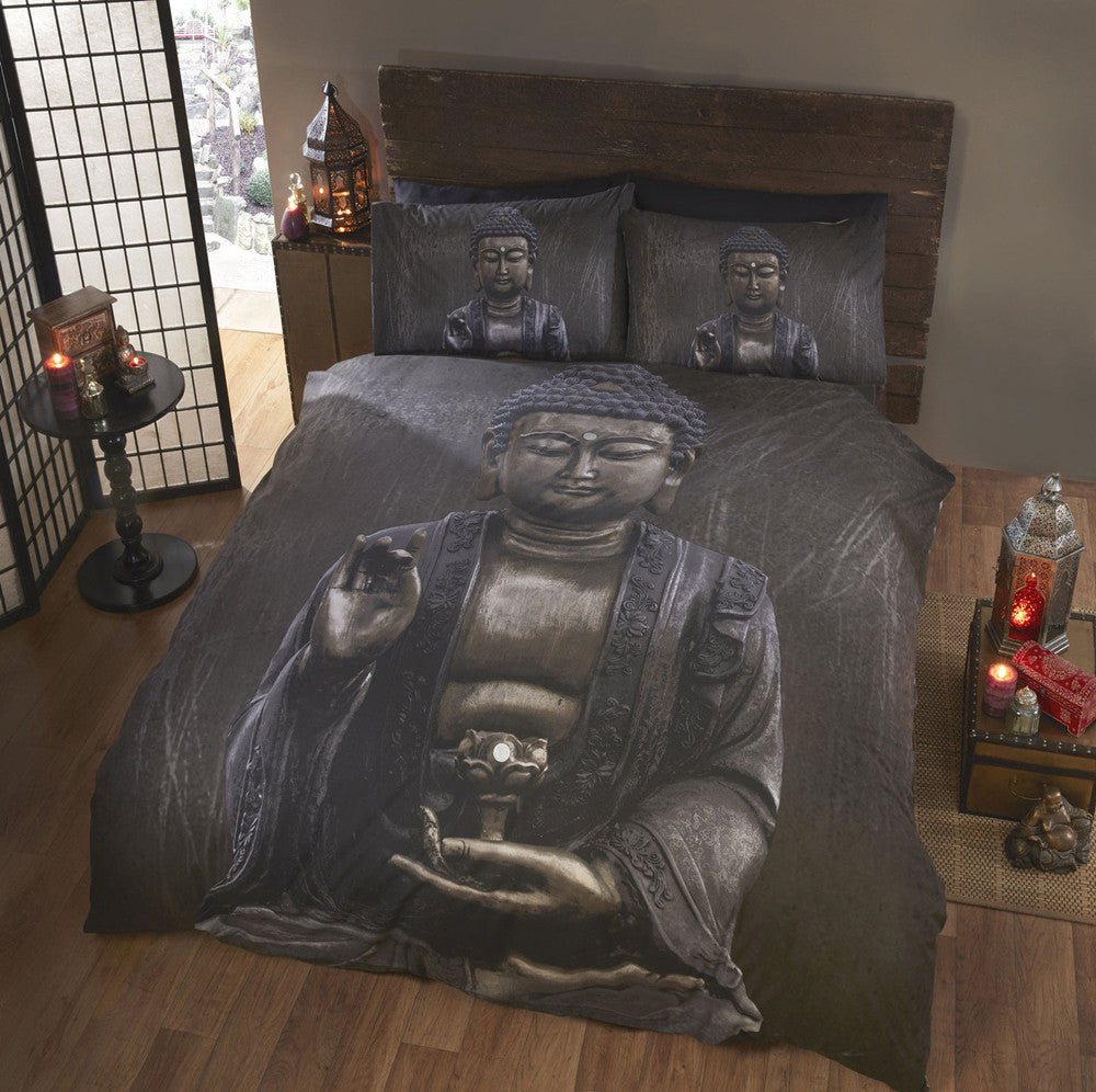 Buddha Print Duvet Cover Set With Pillowcase/ 3 Pieces Home Cool Design Bedding Sets