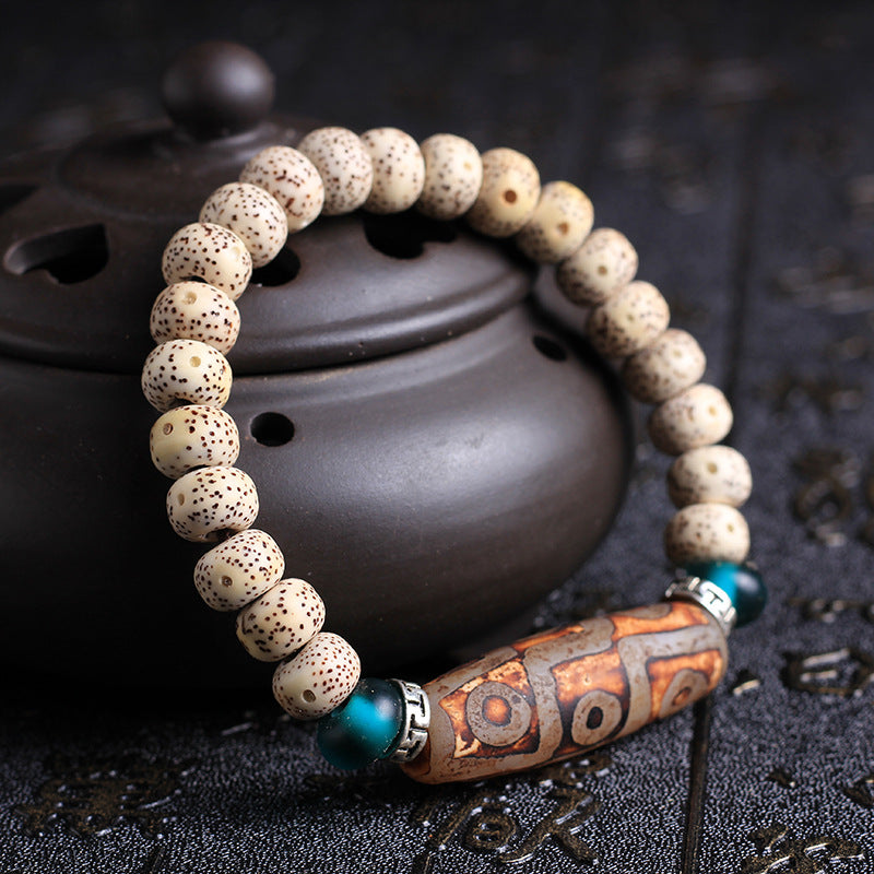 Authentic Dzi Bead - Bodhi Seed Bracelets/Buddha Meditation Prayer