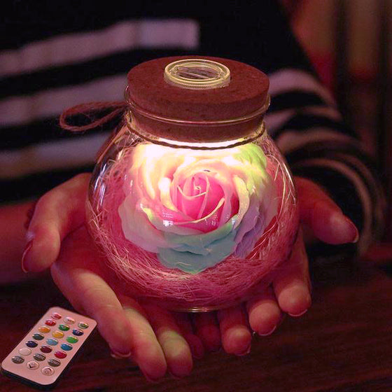 LED Rose Bottle Lamp - Bloom