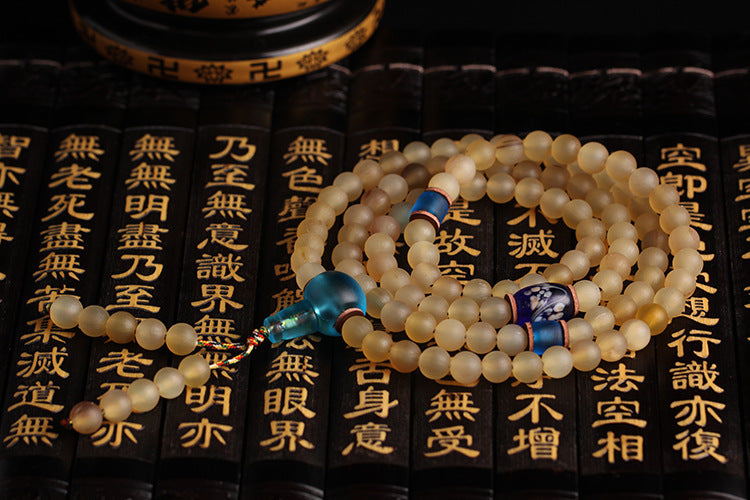 Traditional Tibetan Horn Prayer Mala Beads