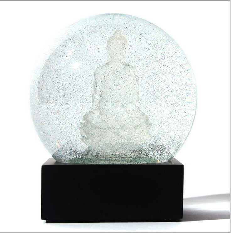 Transparent Buddha Snow Globe/ Crystal Ball/ Waterball