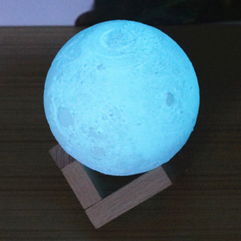 3D LED Enchanting Moon Night Light-Moonlight USB Rechargeable