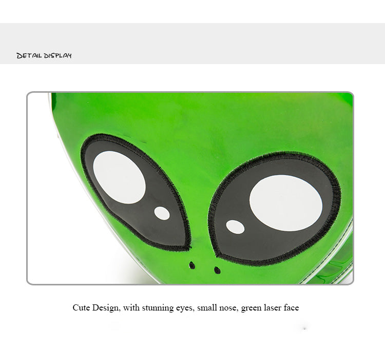 Cute Alien Backpack/Green Laser Girls School Bag