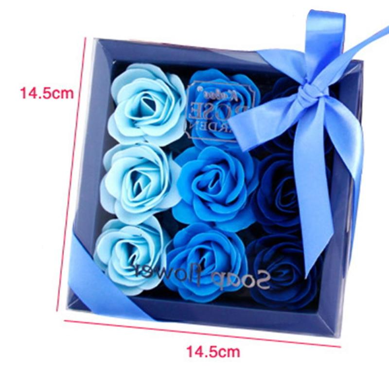 Decorative Rose Soap Flower  Box (Set of 9)