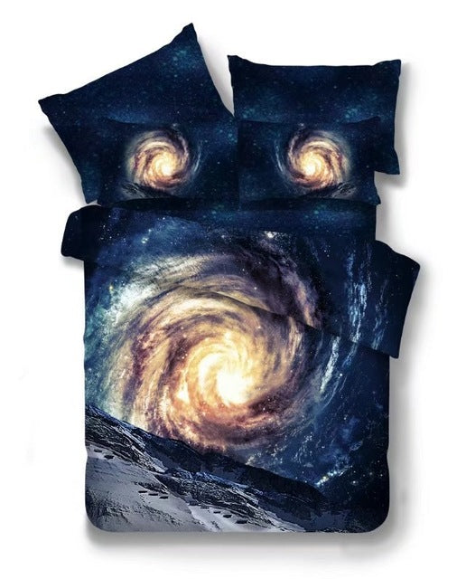 3D Space Star Galaxy Bedding set Twin/Queen Size/Universe Outer Space
