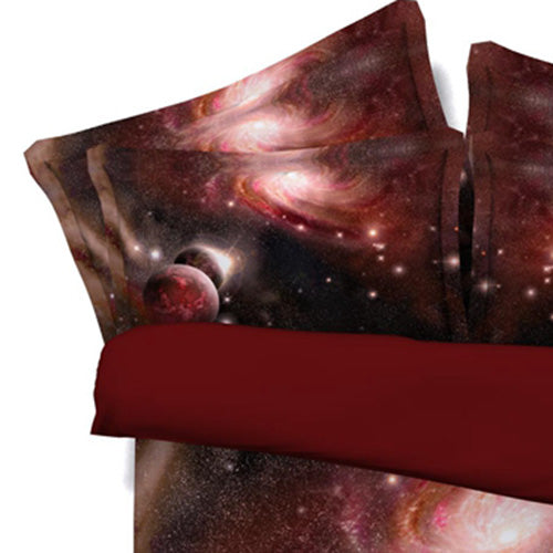 3D Galaxy Bedding Set/Universe Space Wolf Themed Bedspread Duvet Cover Set