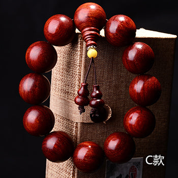 Lobular Red Sandalwood Healing Bracelets