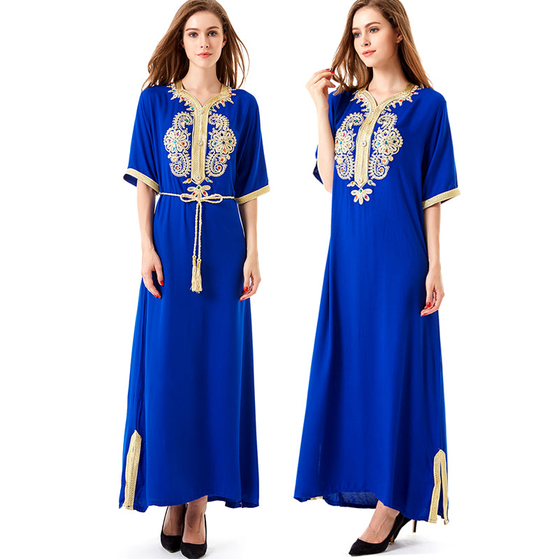 Long Oriental Dress  Moroccan Style Kaftan