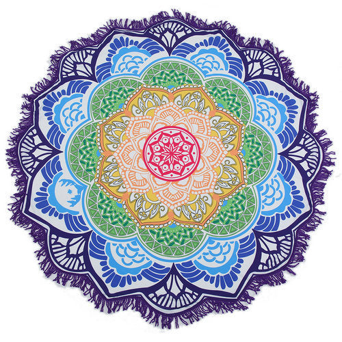 Boho Lotus Flower/Mandala Large Indian Beach Towel