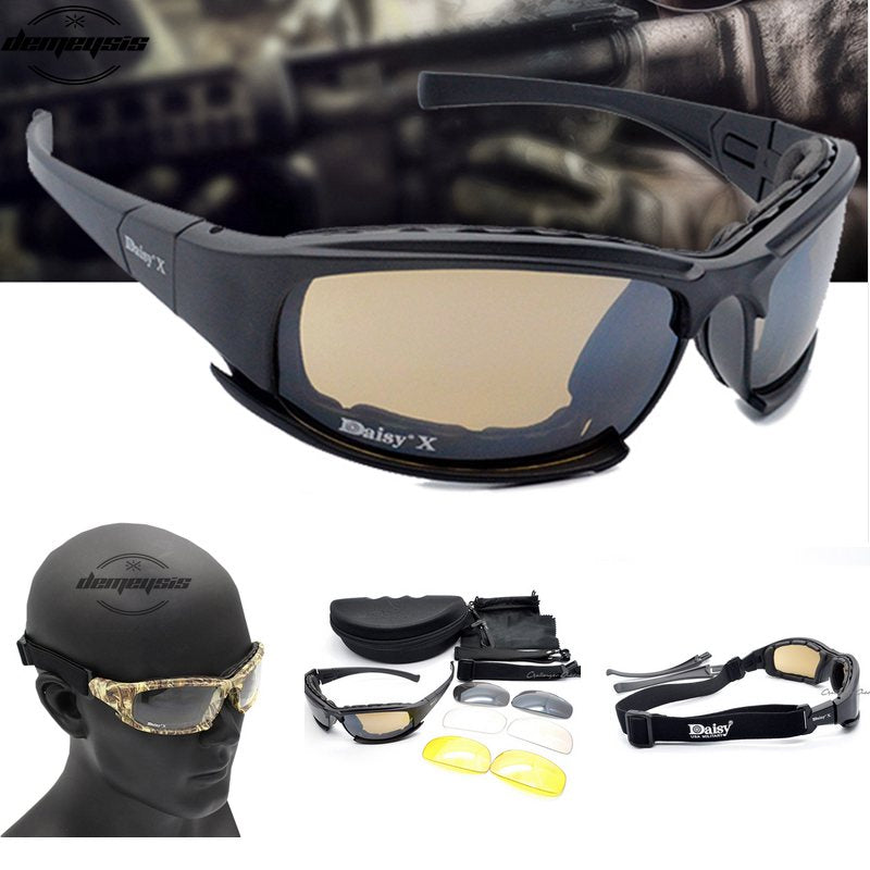 X7 Army Goggles-Sunglasses/Men Military Sunglasses