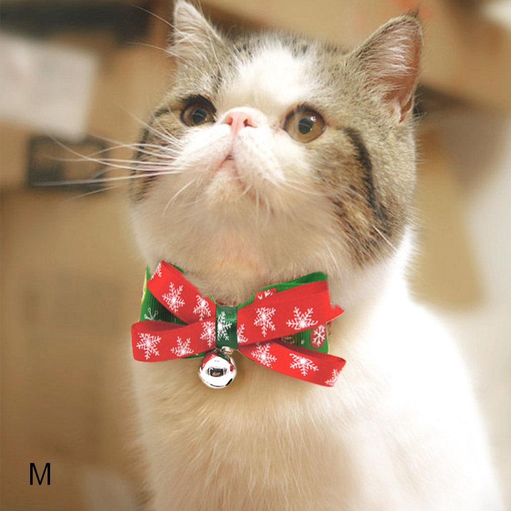 Cute Adjustable Pet Collar Bowtie/Dog Cat Christmas Necktie
