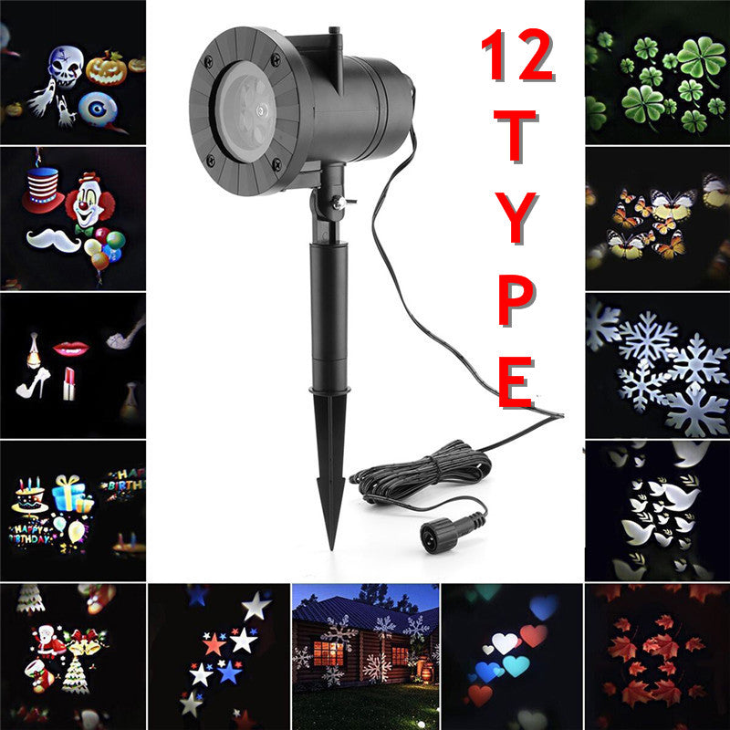 12 Type Christmas, Halloween Decoration Waterproof Outdoor LED Lights