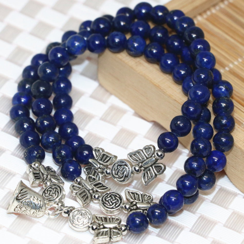 Buddhist jewelry lapis gemstone