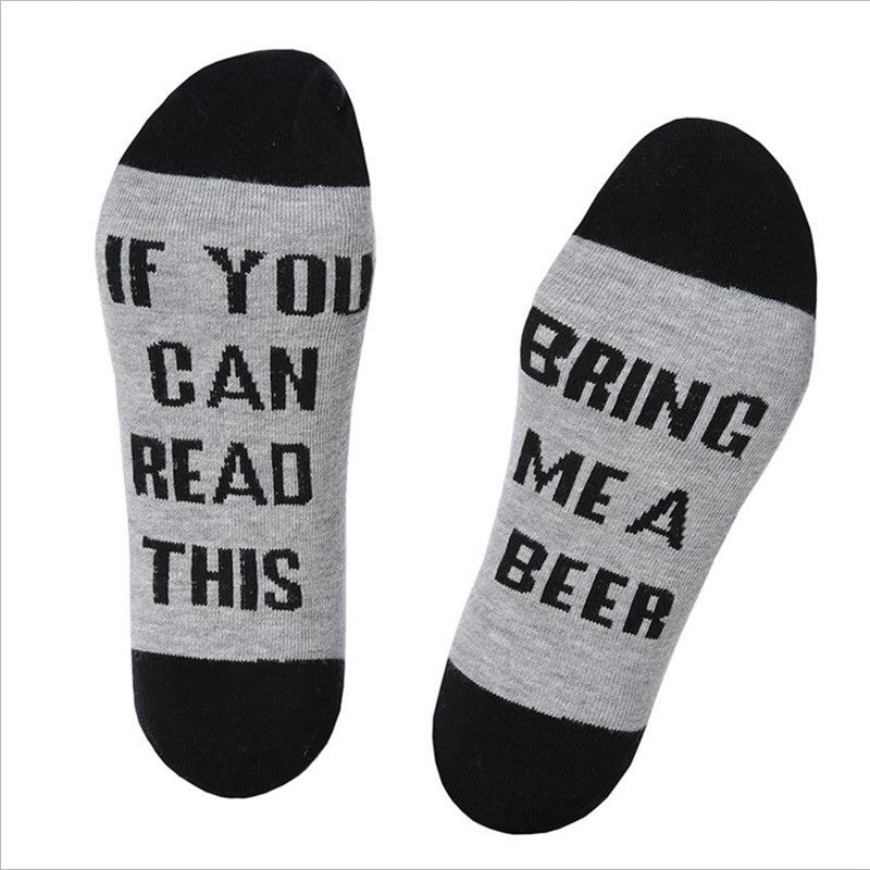 Unisex Cotton Socks' IF YOU CAN READ THIS'Thermal Warm Socks