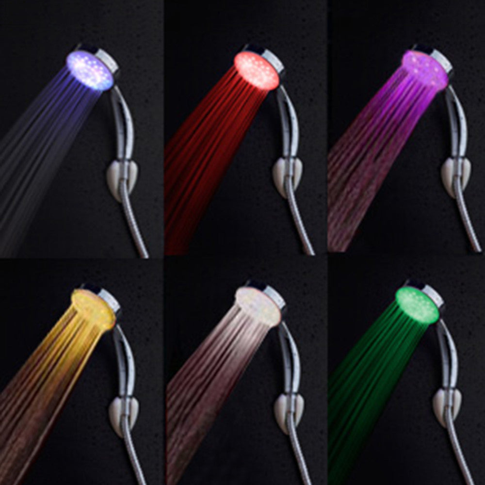 7 Colour LED Rainbow Shower - Free Shipping