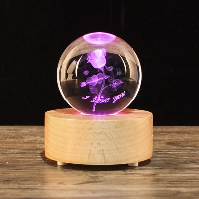 Magic Crystal Ball Bluetooth Speaker Stand