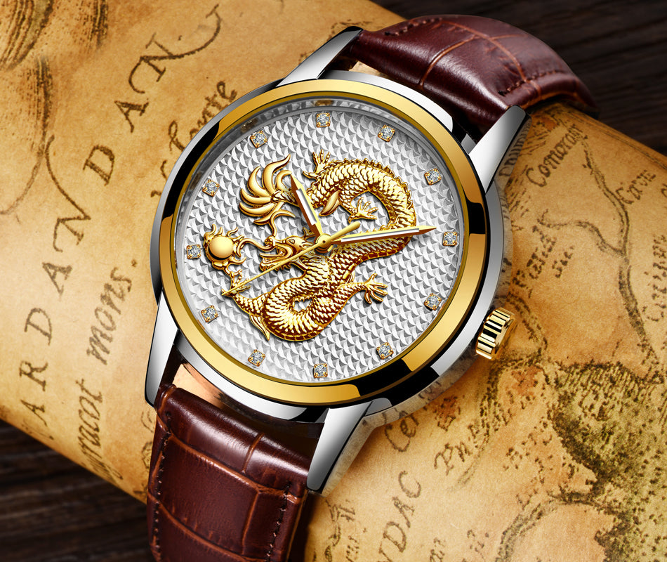 Men's High Quality Dragon Watches - Waterproof