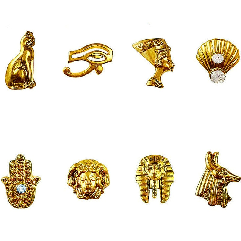 20 PCS Ancient Egyptian Amulet 3D Nail Art Charms